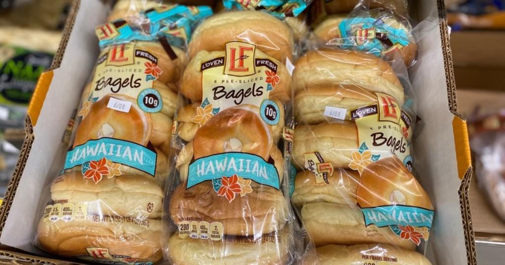hawaiian bagels at ALDI several bags