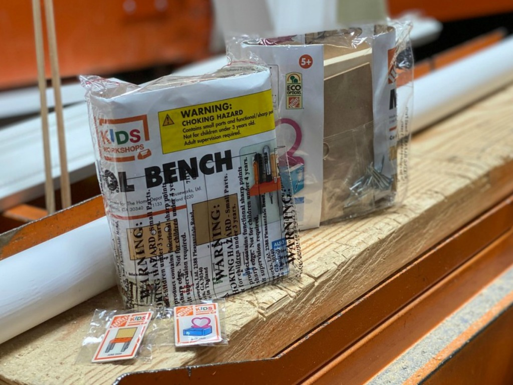 two packages of packages of wood projects for kids