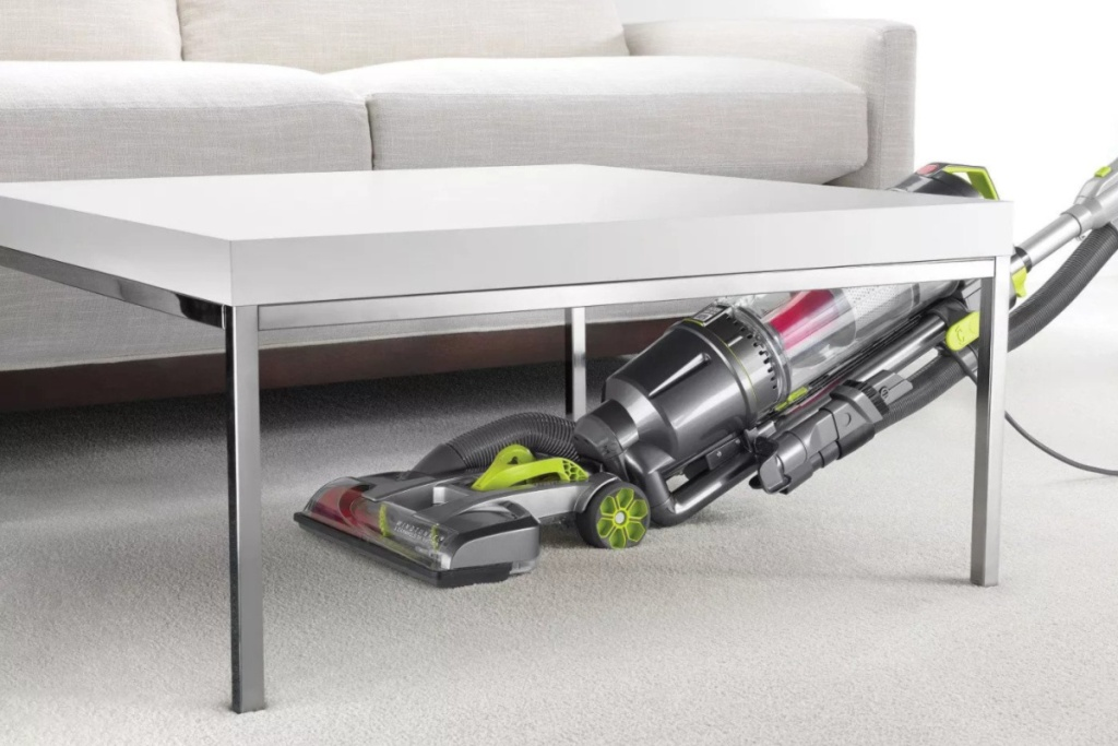 hoover upright vacuum going under table