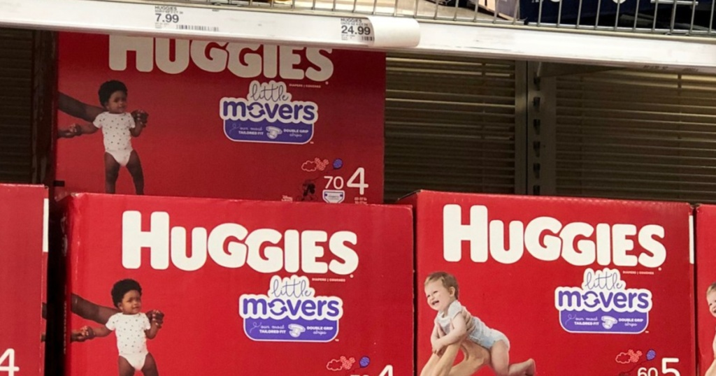 Huggies little movers diapers in store