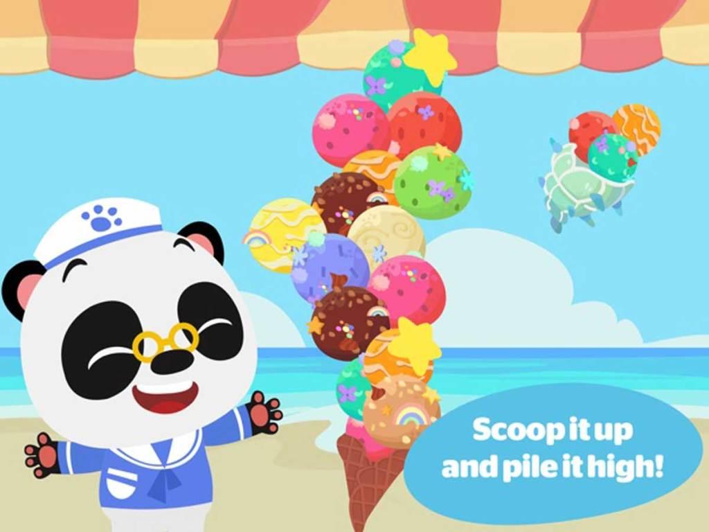 dr panda ice cream truck 2 scoop