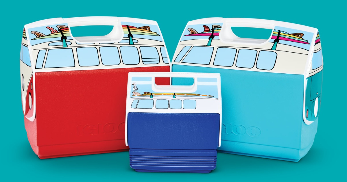 3 coolers that look like VW buses