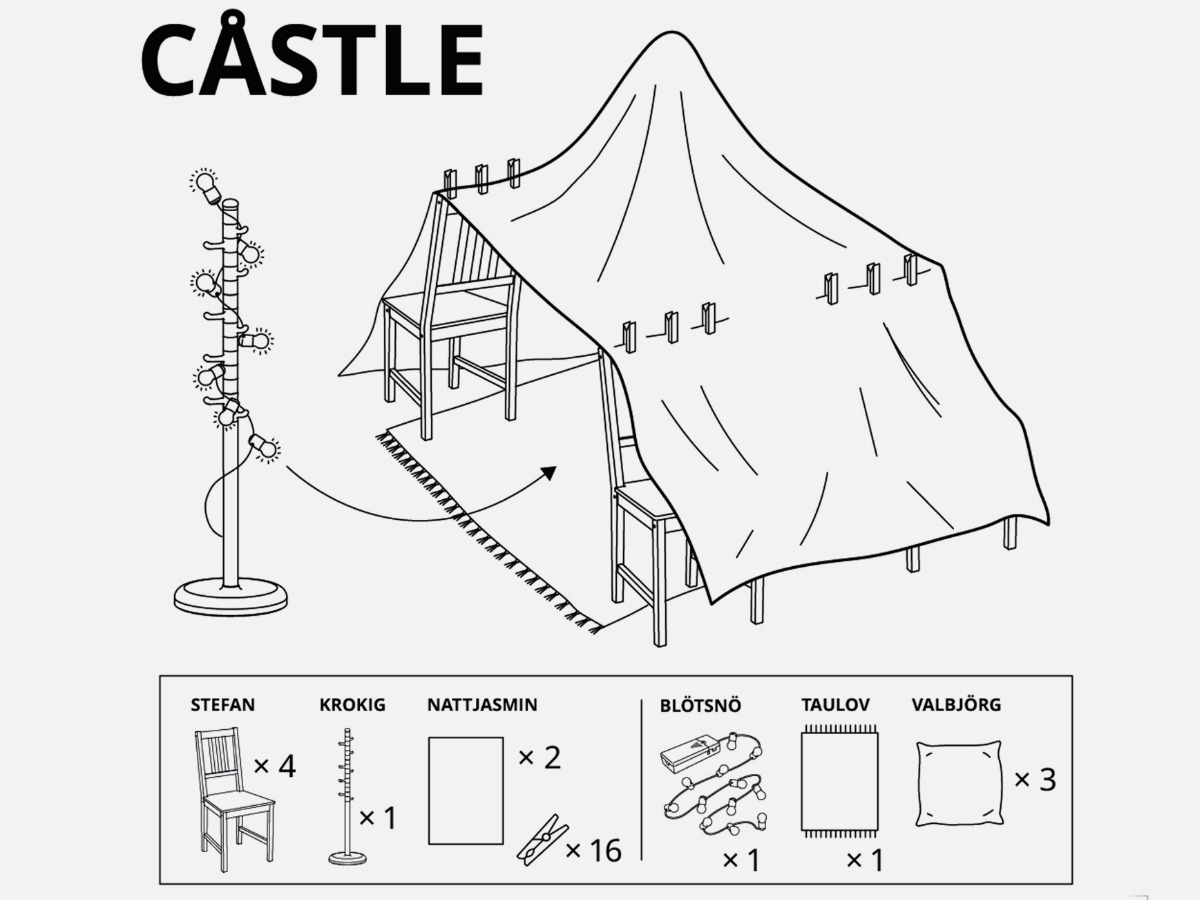 IKEA is Sharing Free Instructions to Make 6 Blanket Forts