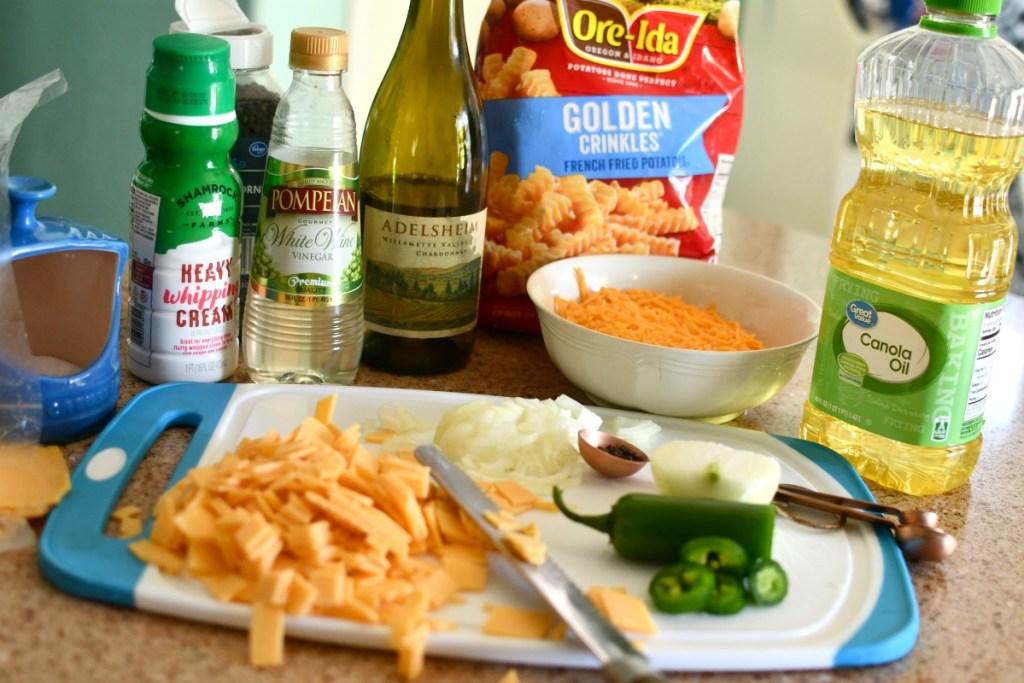 ingredients to make shake shack cheese fries
