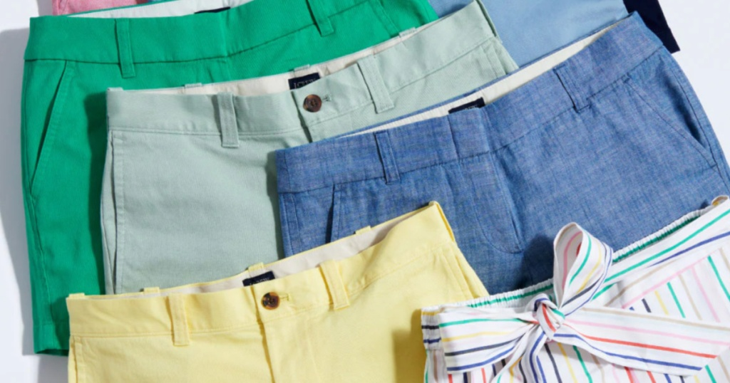 colorful j.crew shorts