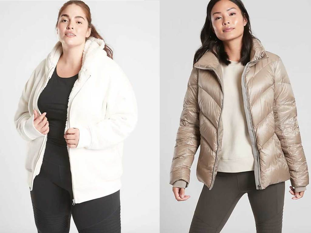 women's sherpa jacket and down jackets
