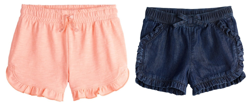 jumping beans shorts peach and jean colored