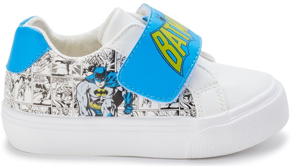 one right foot boys sneaker featuring Batman design