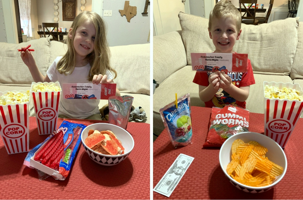 kids eating candy & snacks