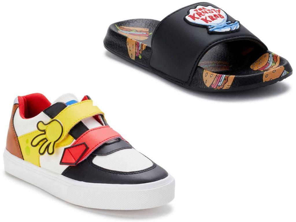 kids right sponge bob sneaker and slide
