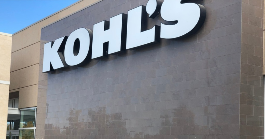 kohls storefront with sign from outside