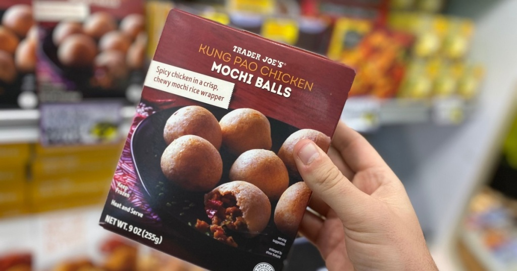 box of Kung Pao Mochi Balls at Trader Joe's