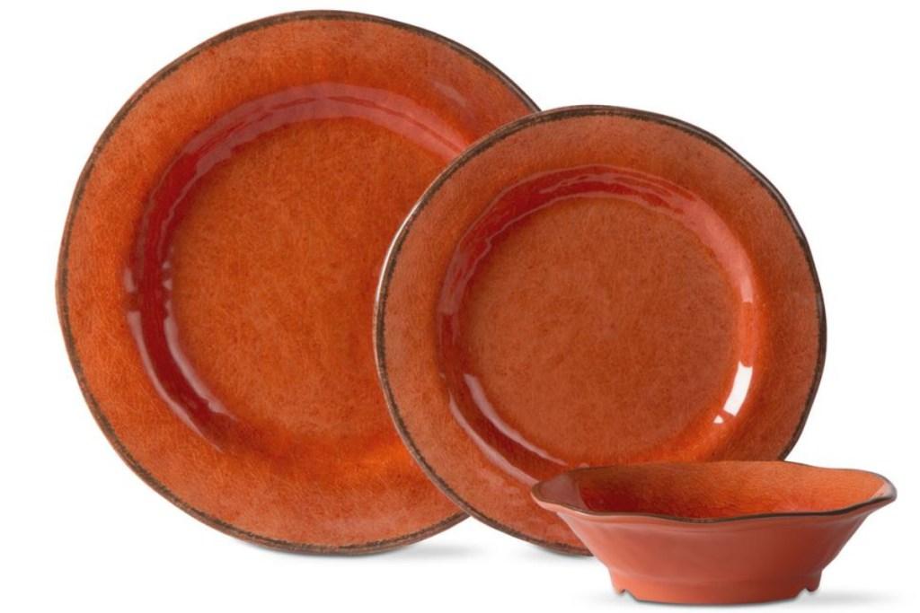 lanai dinnerware set oragne