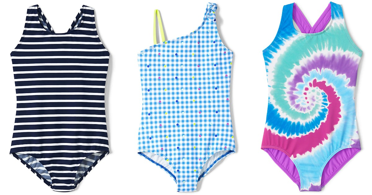 stock images of colorful girls one piece swimsuits