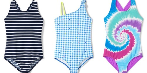 Lands' End Girls One-Piece Swimsuits from $11.98 + Free Shipping