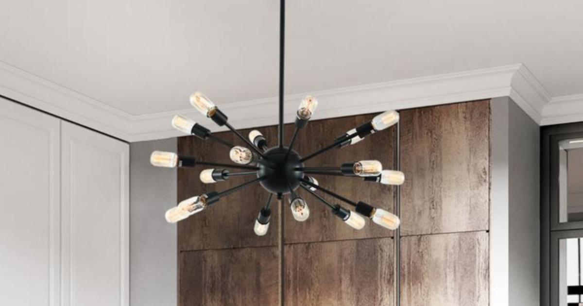 black light fixture chandelier
