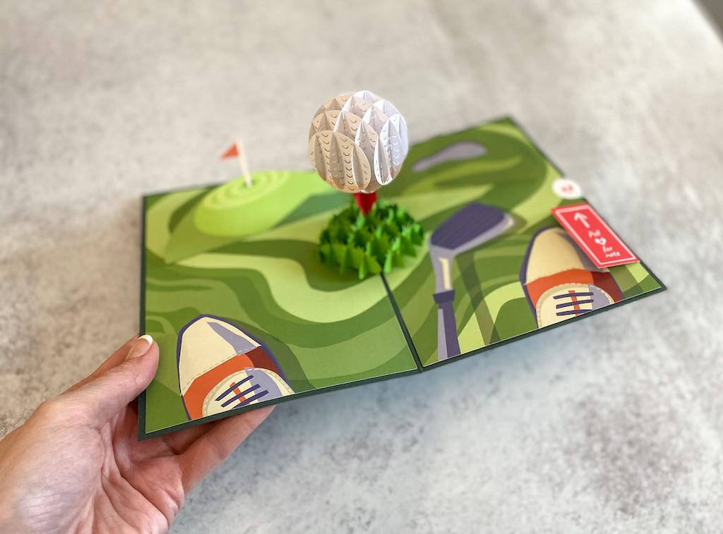 Lovepop 3D Pop Up Father's Day Golf Card