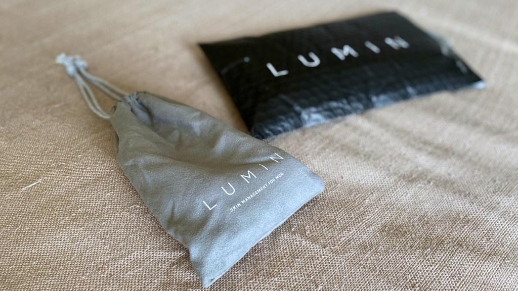 lumin bag on bed