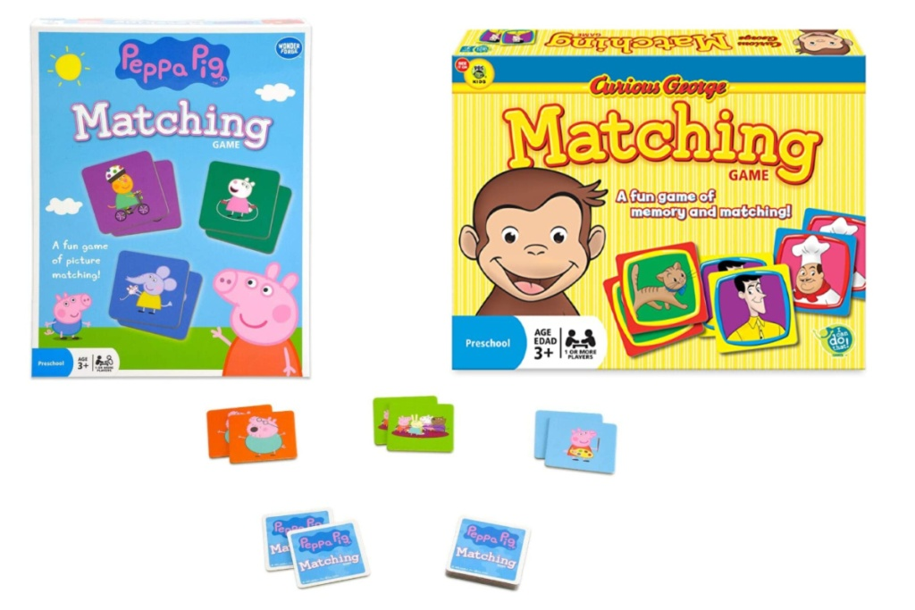 memory games peppa pig and curious george