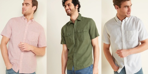 Old Navy Men's Linen-Blend Shirts Only $7.20 (Regularly $30)   Perfect Summertime Shirt