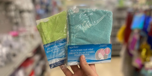 Microfiber Hair Wrap Only $1 at Dollar Tree