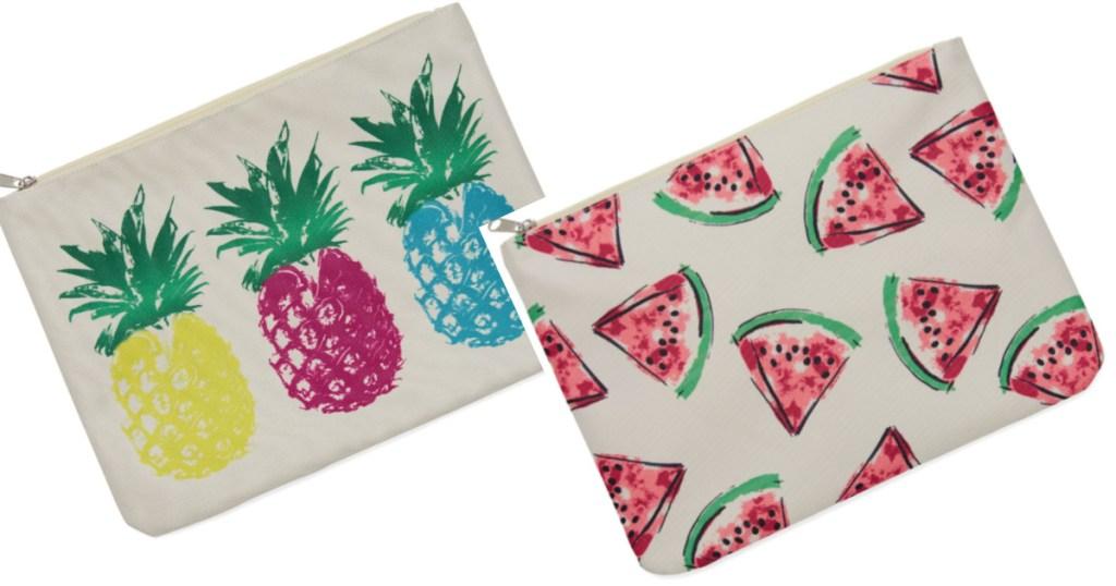 mixit bikini bags pineapple and watermelon print