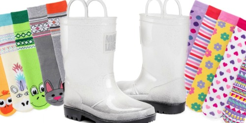 Muk Luks Clear Rain Boots + 5 Pairs of Colorful Socks Only $21.99 Shipped