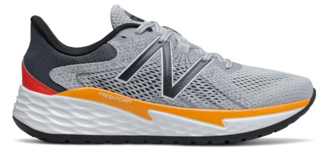 new balance orange white and grey shoe