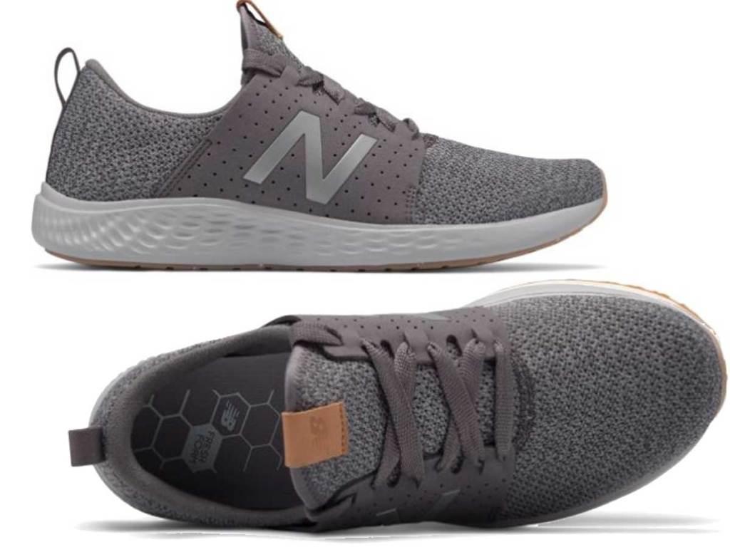pair of men's running shoes in light gray