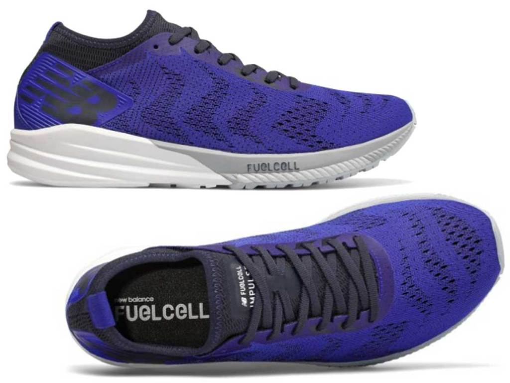 pair of men's purple running shoes