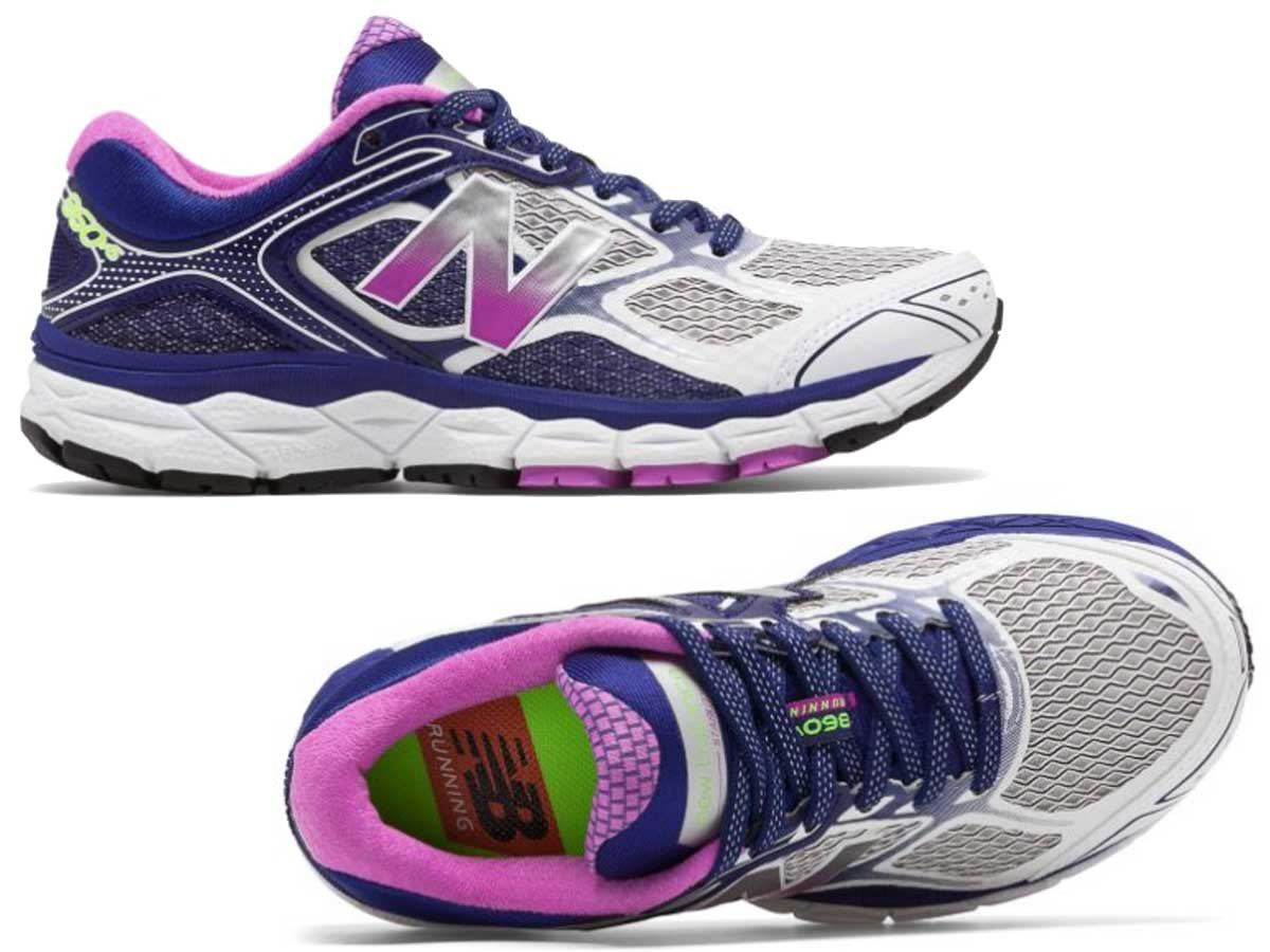 pair of women's purple running shoes