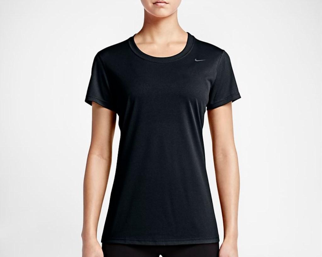 nike womens training short sleeve top