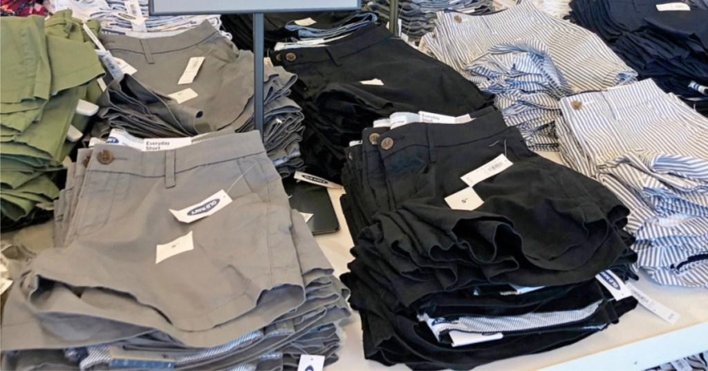 old navy shorts 2 on shelf