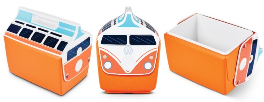 orange igloo vw bus cooler