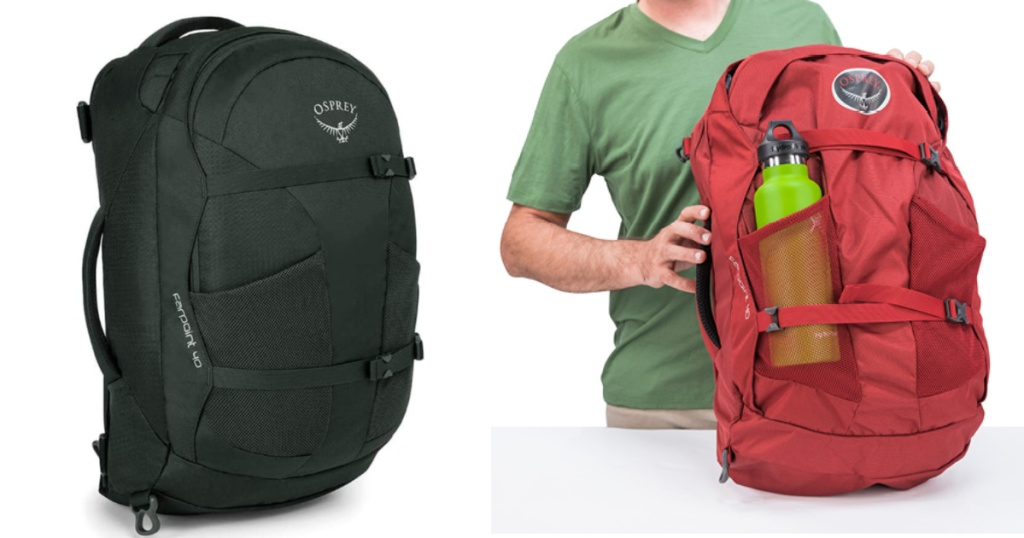 osprey farpoint mens backpack with water bottles