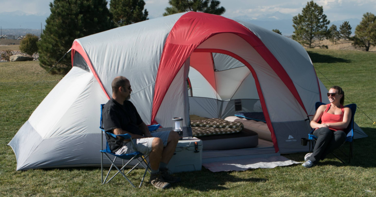 ozark trails camping tent 9-person dome