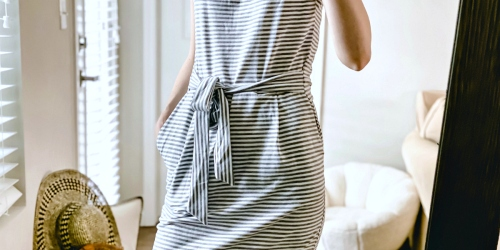 This Fitted Pencil Dress From Amazon Looks Like Anthropologie – But for Much Less!