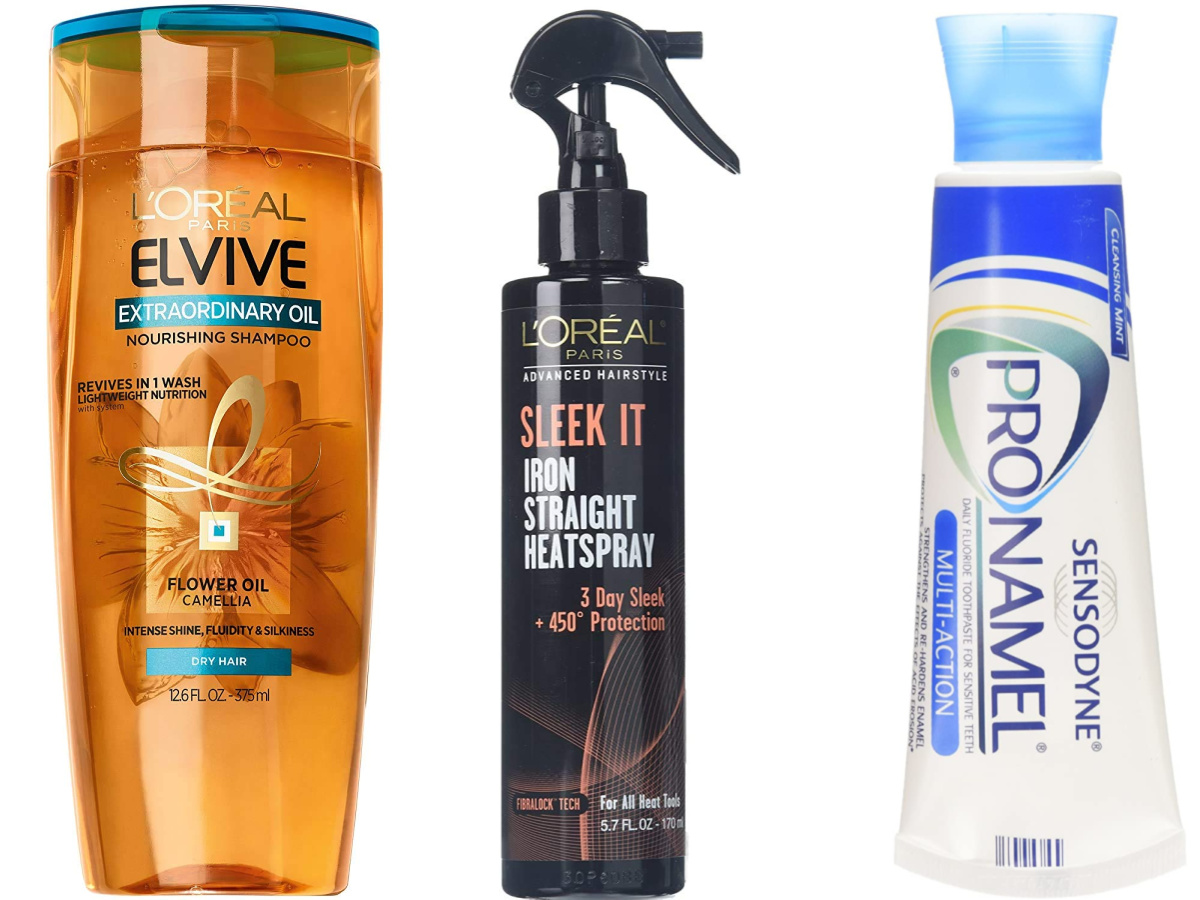 loreal elvive heatspray and toothpaste