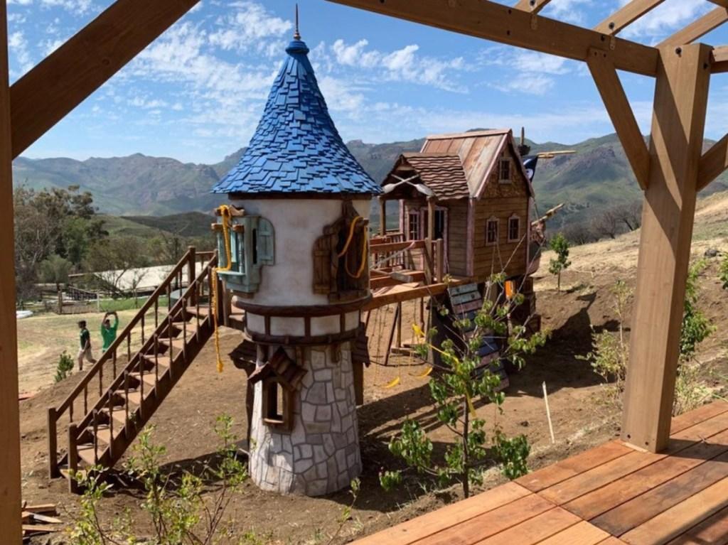 Pirate Rapunzel tree house