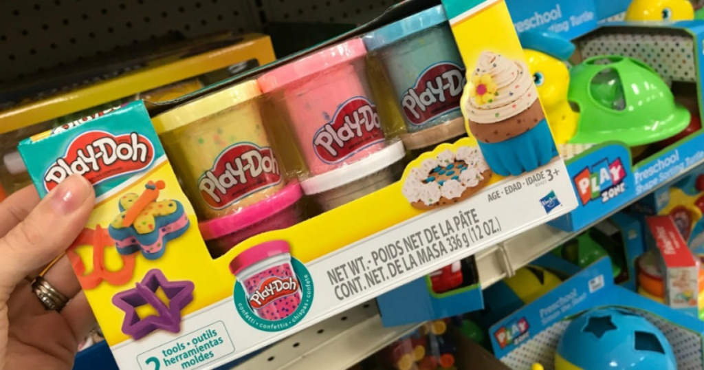 play doh confetti in store in hand