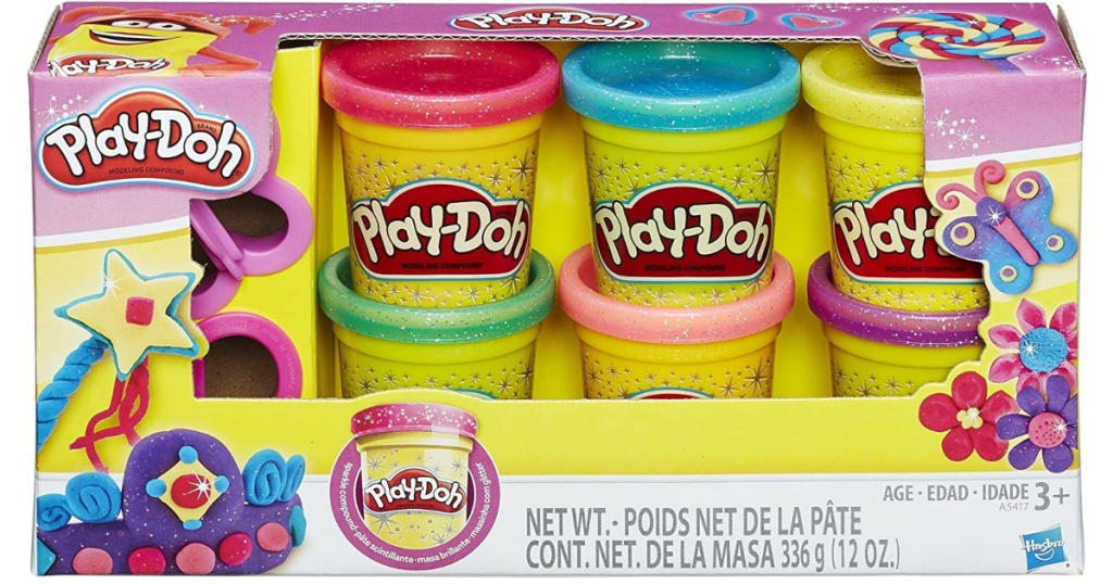play doh sparkle 6-pack