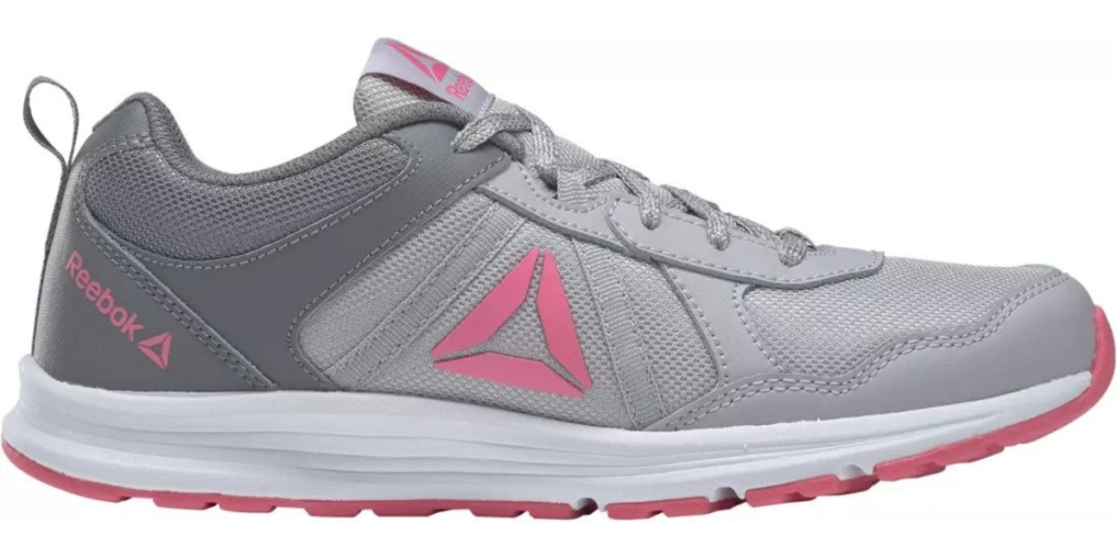 preschool reebok one shoe gray and pink