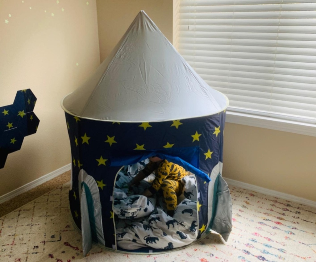 play tent shaped like a rocket