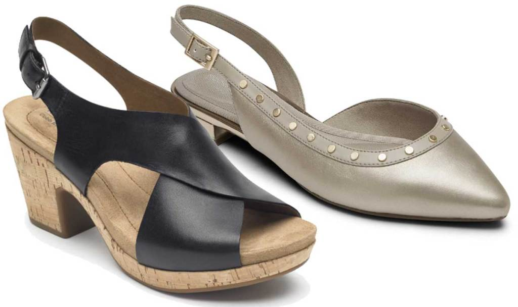 two right shoes of women's sandals stock images