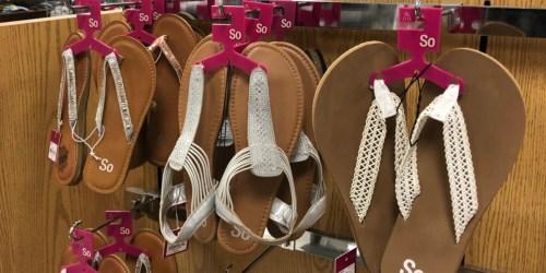 Women's Sandals from $3 Each on Kohl's (Regularly $17)