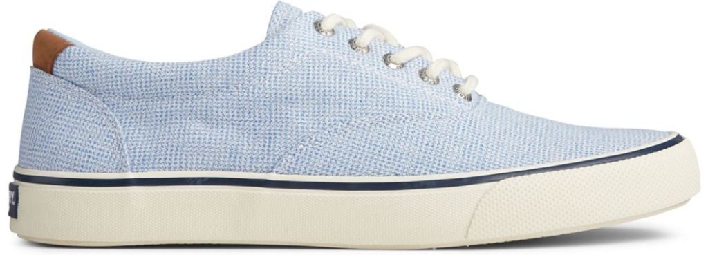 blue and white mens sperry shoes
