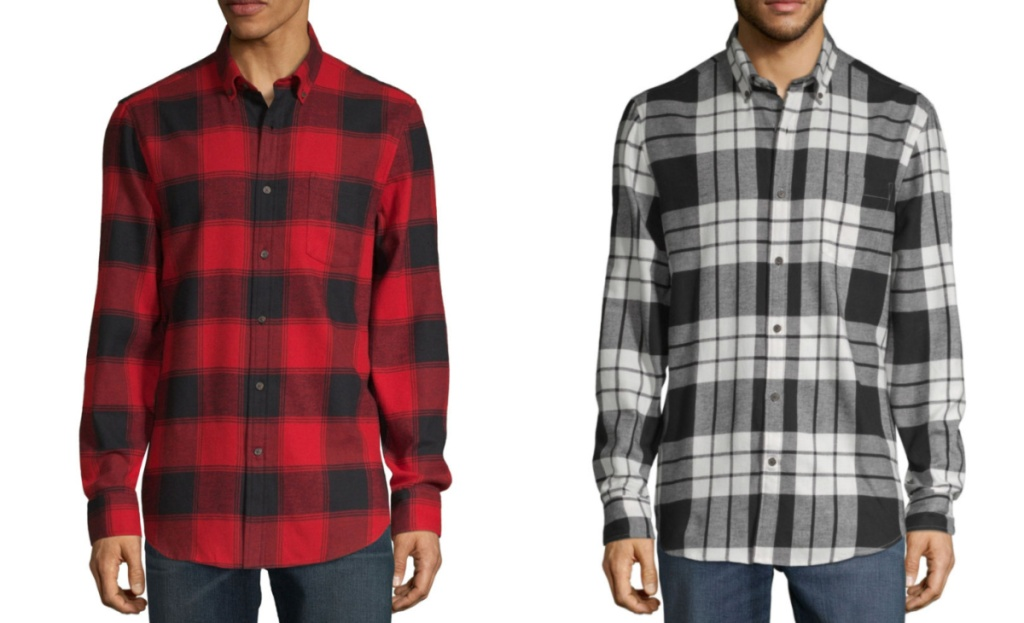 mens flannels at jcpenney