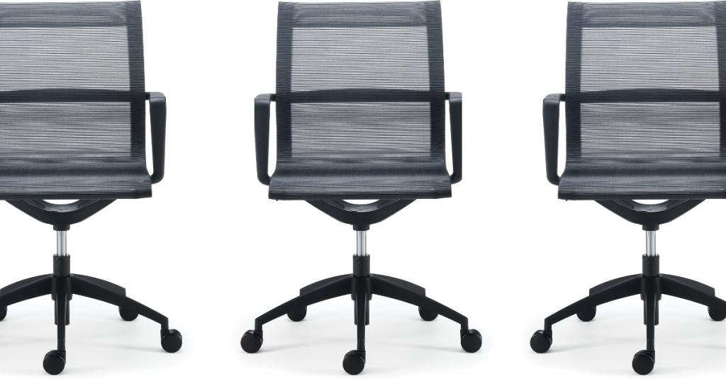 front view of staples mesh back chair