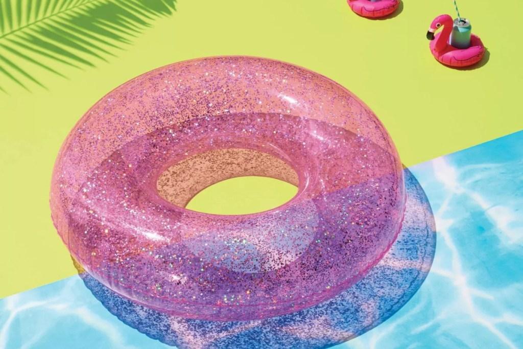 sun squad pink gliter tube