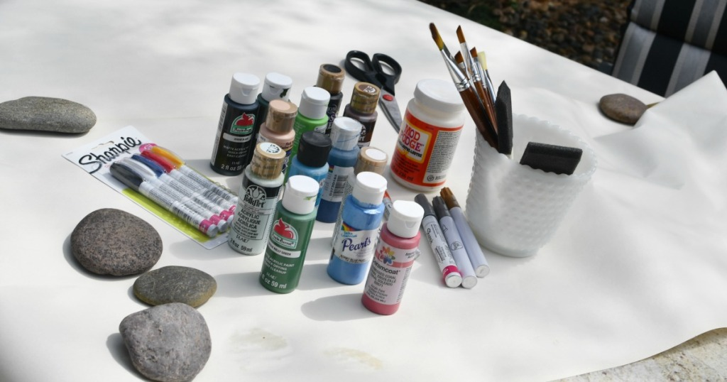 supplies needed to paint rocks